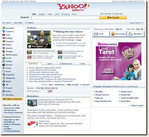 Yahoo Search Uk Yahoo Ireland Homepage Your Brand New Portal To Yahoo Uk Cardinal