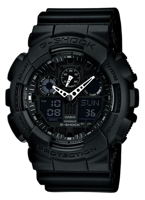 Casio G Shock Ga 100 Black casio g shock ga 100 1a1er anti magnetic resist all black