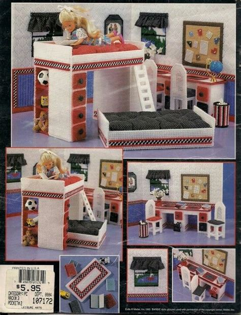 pattern for barbie doll house 40 best images about plastic canvas doll house on