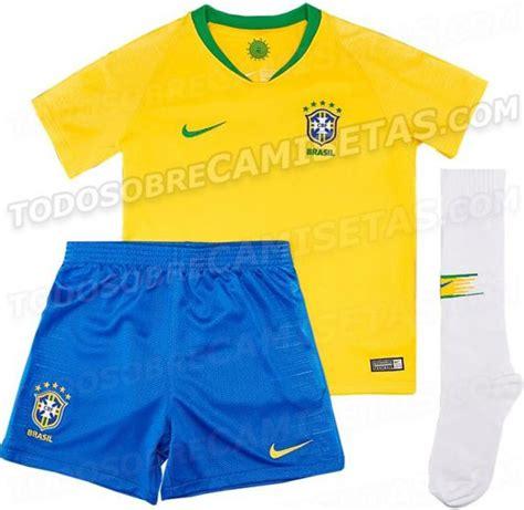 mundial rusia 2018 brasil y su posible uniforme para el