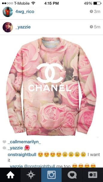 Tk Sweater Rosya Pink 37000 sweater pink chanel flowers pink roses wheretoget