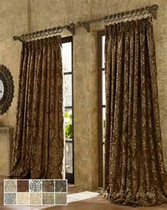 Tuscan Window Treatments Castella Curtain Drapery Panels Tuscan Style 108 Inch