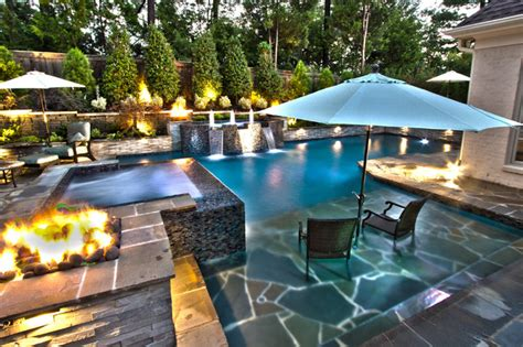 pool with outdoor living designs pool with outdoor living collierville modern geometric pool spa outdoor living