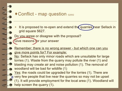 conflict model answers