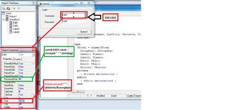 membuat form login sederhana dengan delphi cara membuat design form login sederhana pada delphi 7