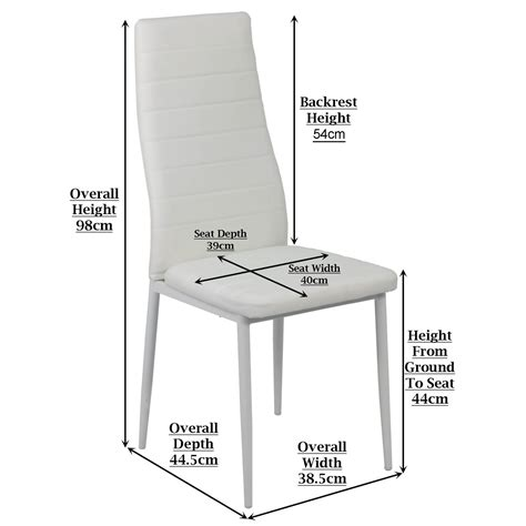 Dining Chair Seat Height Quinn Dining Chair White Furniture Home Da On Inch Seat Height Dining Chairs In Home S