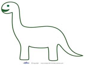 dinosaur templates printable brontosaurus decoration coolest free