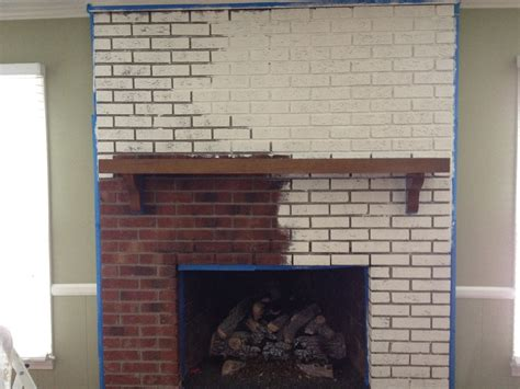 Wall Color With Brick Fireplace by Traditional Brick Wall Painted Fireplace With White Color