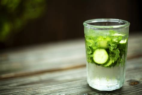 Cucumber Water Detox Drink by Detox With Lemon Cucumber Mint Water Popsugar Fitness