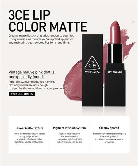 86shop 3ce 3 Concept Matte Lip Color 3 5gr 601 Kisser 3ce 3 concept lip color matte 909 908 907 606 118 119 216 ss new ebay