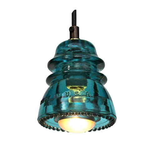 Insulator Pendant Lights Insulator Light Pendant Blue Green 120v 40w Bulb Railroadware
