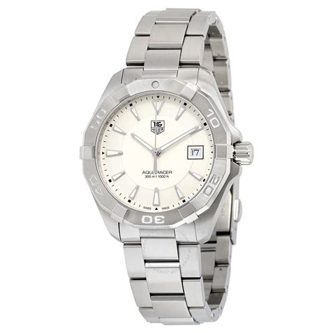 Tag Heuer Silver tag heuer aquaracer silver s way1111 ba0928