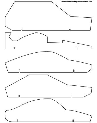 How To Make Paper Look Fast - how to make a pinewood derby racing car 9 steps with