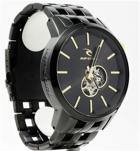 Rip Curl Stainless Black Gold world of miniature bears rabbit 5 quot mini mohair bunny sparse white gold watches black