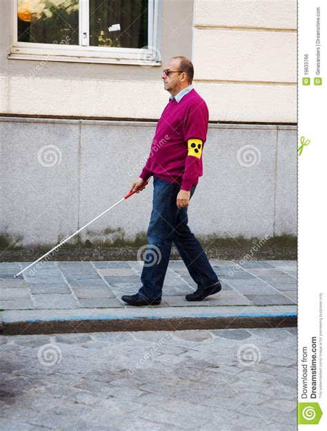 Blind People Stick Blind Man With Stick Stock Photo Image Of Guidance