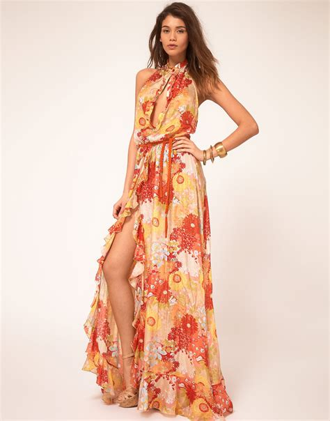 Maxi Dress Miss Andin lyst miss sixty miss sixty floral maxi dress