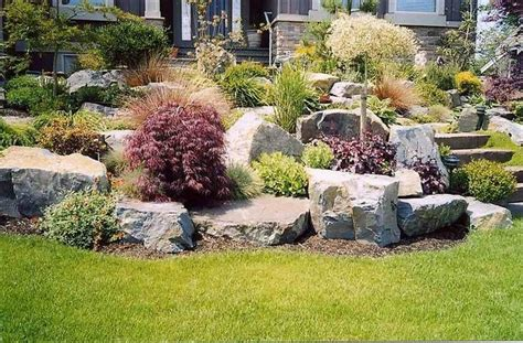 Large Rock Landscaping Ideas Pictures Of Landscaped Lawns Home Decorating Ideas For Landscape Rocks Big Battle Ground