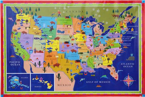 map of the united states kid friendly us map for kids by eeboo