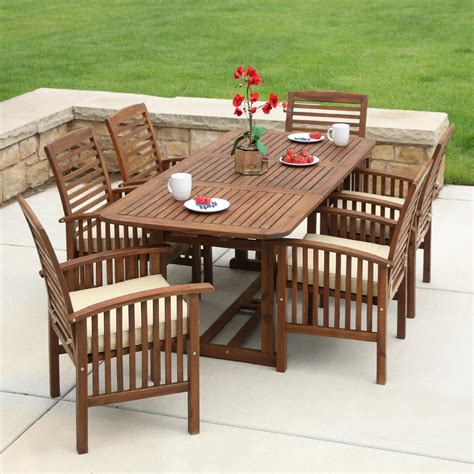 Amazon.com : WE Furniture Solid Acacia Wood Patio