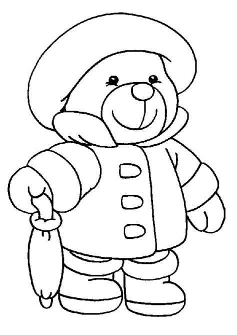 simple bear coloring page teddy bear coloring pages great pictures and easy to