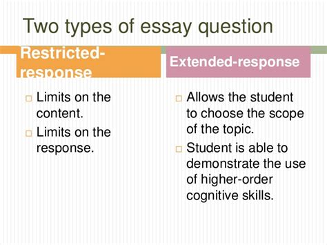Essay Test Variety Of Topics by Tests And Measurements Essay Questions