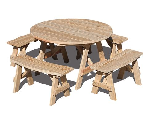 circular picnic benches treated pine round picnic table
