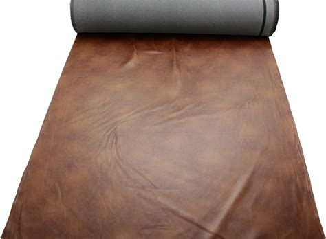 distressed antique aged brown retardant faux leather