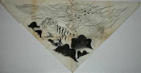 Crouching Tiger Hanging Rabbit by Crouching Tiger Uchishiki Drawing Japan
