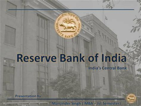 where is reserve bank of india roles functions of reserve bank of india authorstream
