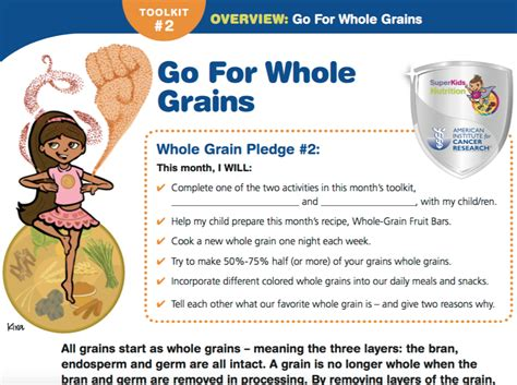 whole grains lesson plan aicr quot healthy whole grain toolkit lesson plan and