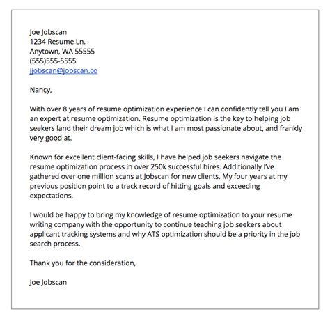 cover letter set up cover letter formats jobscan