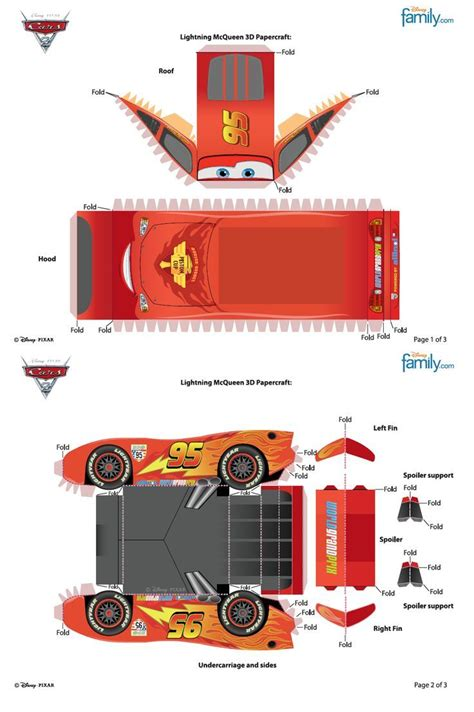 Lightning Mcqueen Papercraft - 26 best images about carros on disney disney