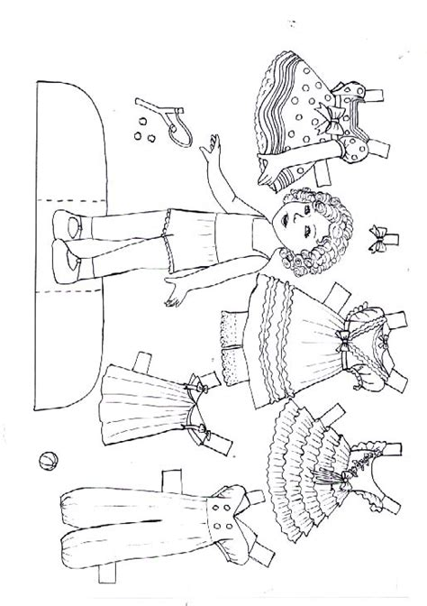 Pioneer Coloring Paper Dolls Coloring Pages Paper Doll Coloring Page