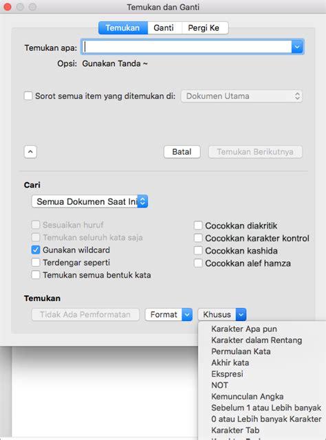 Microsoft Word Untuk Macbook menemukan dan mengganti teks atau pemformatan di word untuk mac word for mac