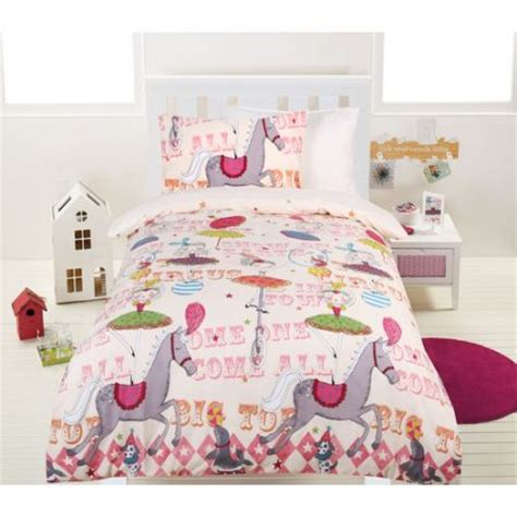 glow in the bed circus quilt cover set