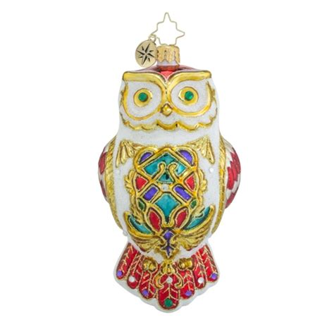 christopher radko ornaments radko owl fly away animal
