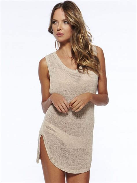 knitted bathing suit cover up cheap summer sleeveless knit slit bathing suit coverups