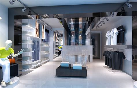 Interior Stores by Sports Clothing Store Interior Design Rendering