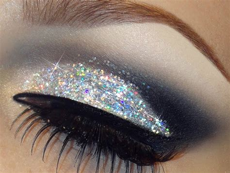 Eyeshadow Glitter glitter holographic silver eye shadow kit glitter pot fixing gel brush ebay