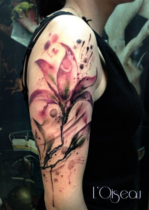 watercolor lily tattoo watercolor www pixshark images