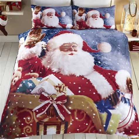 christmas comforter sets queen christmas holiday santa reindeer quilt duvet comforter