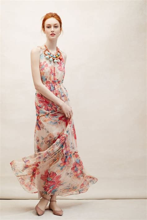 8 Pretty Anthropologie Dresses by Blooming Silk Maxi Dress Anthropologie 198
