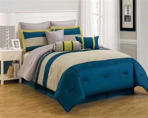 blue comforter set 9 piece king carter blue and yellow comforter set