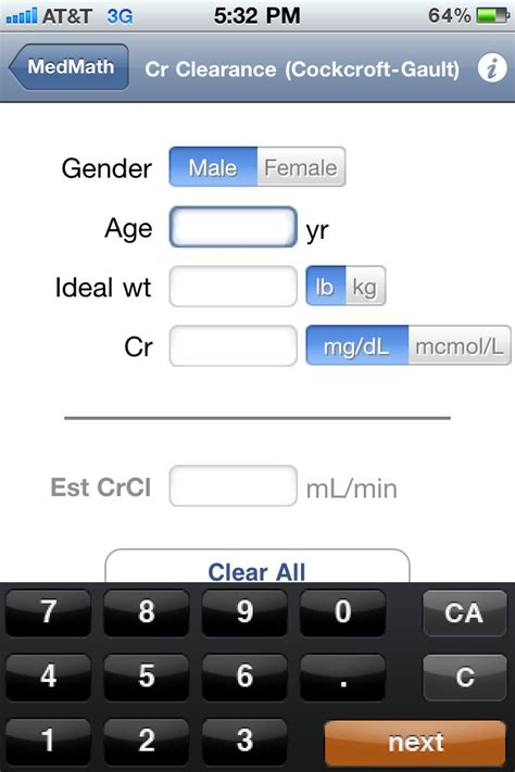 creatinine units the best free calculator apps for the iphone