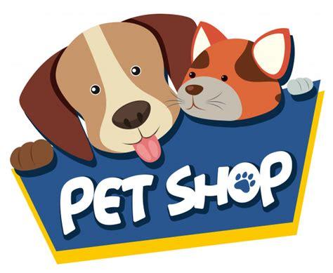 Shoo Pet Shop pet shop sign with and cat vector premium
