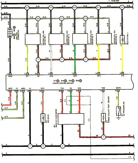 ignition coil wiring diagram toyota circuit and