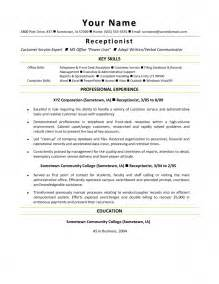receptionist resume qualifications resume cover letter