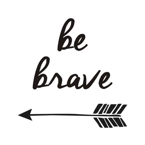 printable stencils sayings be brave with arrow stencil 4 sizes available by
