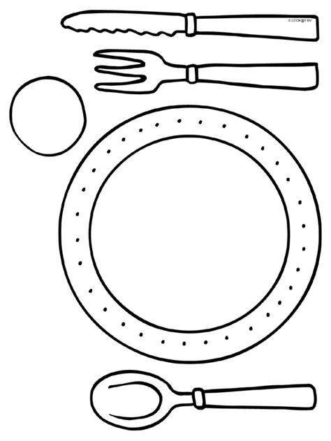 kleurplaat placemats mes vork lepel kleurplaten nl