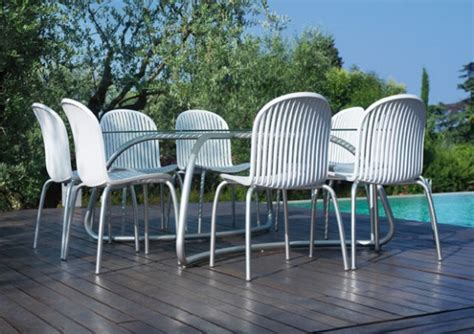 white outdoor patio furniture modern white outdoor tables and chairs loto ninfea from nardi digsdigs